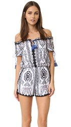 Saylor Remy Off Shoulder Romper Multi