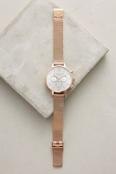 Anthropologie Cecile Mesh Watch Copper