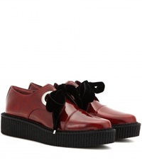 Marc By Marc Jacobs Kent Platform Leather Derby Shoes Red