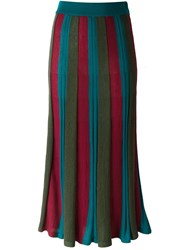 Antonio Marras Striped Skirt Green