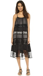 Alice Olivia Dejas Pleated Trapeze Dress Black