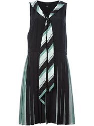 Marc Jacobs Pleated V Neck Dress Green