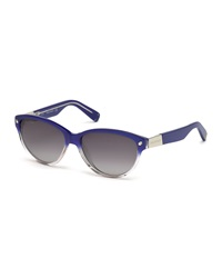 Dsquared2 Studded Ombre Plastic Sunglasses Blue