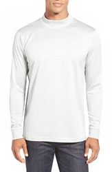 Men's Bugatchi Long Sleeve Mock Neck T Shirt Silver