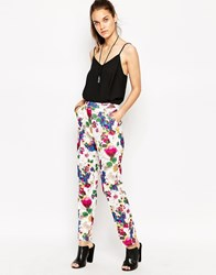 Daisy Street Trousers In Floral Print Floral Multi