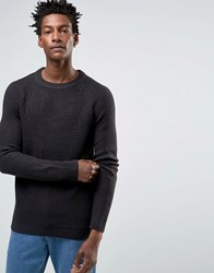 Selected Crew Neck Knitted Jumper Navy