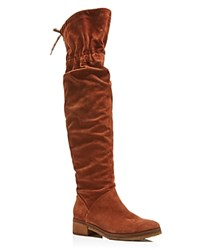 See By Chloe Jona Over The Knee Slouch Boots Tan