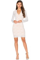 Nightcap Wisteria Lace Deep V Dress White