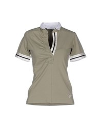 Etiqueta Negra Topwear Polo Shirts Women Military Green