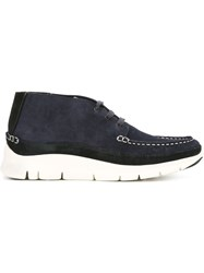 Paul Smith Stitching Detail Lace Up Shoes Blue
