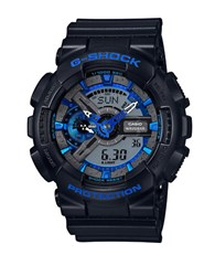 G Shock Stainless Steel Analog Digital Resin Strap Watch Black