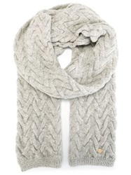 Woolrich Knitted Scarf Grey