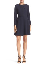 Ted Baker Women's London 'Loozy' Long Sleeve Tie Neck Fit And Flare Dress