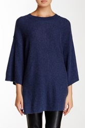 14Th And Union Short Sleeve Cashmere Sweater Blue