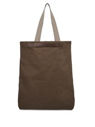 Mismo M S Flair Canvas Tote Dark Brown
