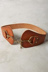Anthropologie Piedmont Chain Waist Belt Cognac