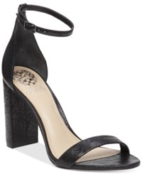 Vince Camuto Mairana High Heel Strappy Sandals Women's Shoes Black