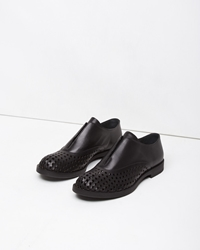 Jil Sander Perforated Slip On Loafer Black
