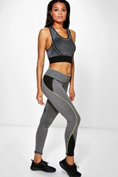 Boohoo Neon Highlight Sports Running Leggings Lime
