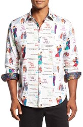 Robert Graham Men's Classic Fit Xmas Love Sport Shirt