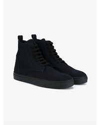 Ann Demeulemeester Shadow Hi Top Sneakers Black Green