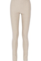 Missoni Crochet Knit Wool Skinny Pants Nude