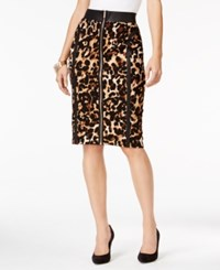 Thalia Sodi Animal Print Pencil Skirt Only At Macy's Leopard
