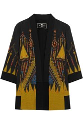 Etro Printed Crepe Jacket Black