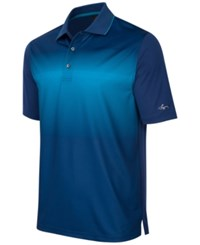 Greg Norman For Tasso Elba Men's Ombre Performance Polo Only At Macy's Blue Socket