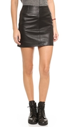 Bb Dakota Eloy Leather Miniskirt Black