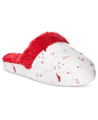 Charter Club Printed Flannel Slippers Only At Macy's Ivory Cardinal