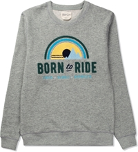 Bwgh Grey Born To Ride Sweater