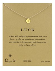 Dogeared Four Leaf Clover Charm Necklace Gold