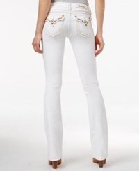 Miss Me Embellished White Wash Bootcut Jeans