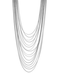 Bcbgeneration Silver Tone Long Multi Chain Statement Necklace