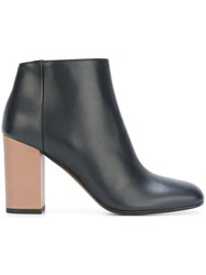 Marni Contrasting Heel Ankle Boots Blue