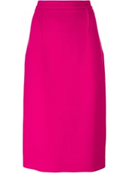 Roland Mouret Zipped Skirt Pink And Purple