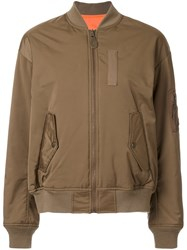 G.V.G.V. Lace Up Back Bomber Jacket Brown