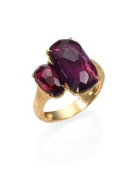Marco Bicego Murano Amethyst Rhodolite Garnet And 18K Yellow Gold Cocktail Ring