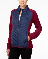 G.H. Bass And Co. Quilted Zip Front Jacket Mulled Wine Combo