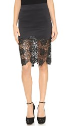 Clover Canyon Lace Skirt Black Black