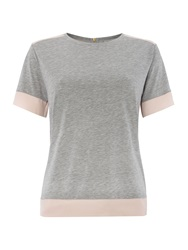 Mary Portas Tracey Tee With Contrast Panel Multi Coloured