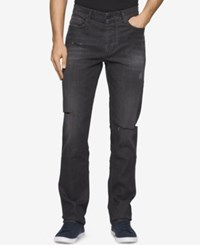 Calvin Klein Men's Slim Fit Destructed Jeans Destructed Metal