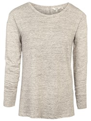 Fat Face Bramley Button Back Top Oat