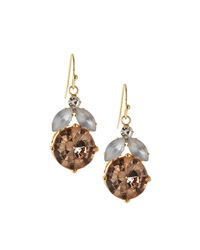 Rj Graziano R.J. Graziano Golden Drop Earrings W Rhinestones Blush