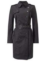 Jacques Vert Trench Mac Black