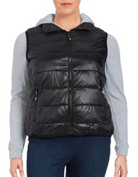 Marc New York Two For Puffer Vest Hoodie Black