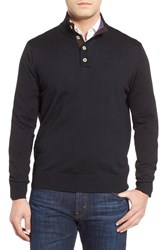Men's Thomas Dean Merino Wool Sweater Black