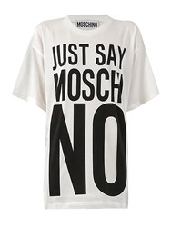 Moschino Oversized Just Say Print Jersey T Shirt