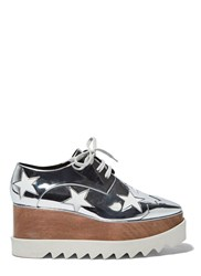 Stella Mccartney Hackney Metallic Star Platform Shoes Silver
